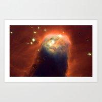 Space Volcano Art Print