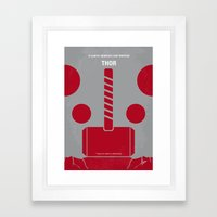No232 My THOR Minimal Mo… Framed Art Print