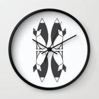 Foxy Reflected Wall Clock