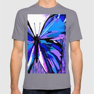 Butterfly  Mens Fitted Tee Slate SMALL