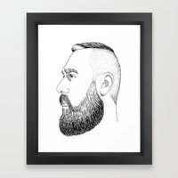 beard gold Framed Art Print