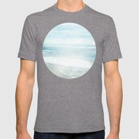 Feel The Sea Mens Fitted Tee Tri-Grey SMALL