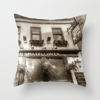 The Mayflower Pub London… Throw Pillow