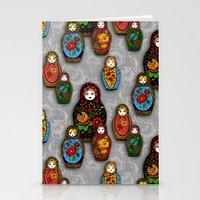 Matryoshki pattern Stationery Cards