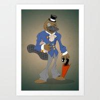 Dandy Platypuzz Art Print