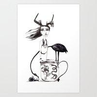 alice in wonderland Art Prints featuring Wonderland by lesinfin