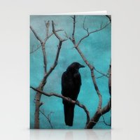 Stationery Card featuring Aqua by The Strange Days Of Gothicolors