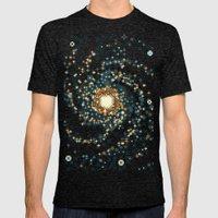 Pinwheel Galaxy M101 (8b… Mens Fitted Tee Tri-Black SMALL