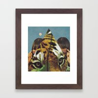 Tiger's EYE Framed Art Print