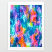 Paradise (Blue) Art Print