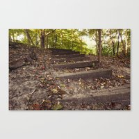 Up The Steps Canvas Print