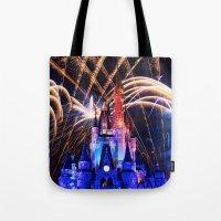 Walt Disney World Christmas Eve Fireworks Tote Bag