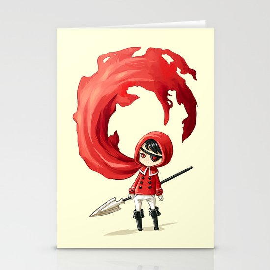 Red Cape Stationery Card