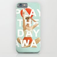 iPhone Cases featuring Play The Day Away by Heather Landis