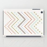 Mixed Zig Zag - in Mint iPad Case