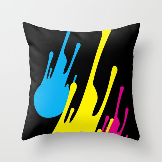 CMYKomet Throw Pillow