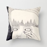 Lente de contacto Throw Pillow
