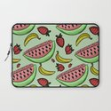 Fruit Pattern - Watermelon, Strawberry, Banana Laptop Sleeve