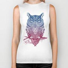 Evening Warrior Owl Biker Tank