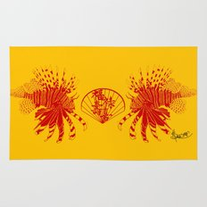 Chinese Cut Out Lion Fish Rug