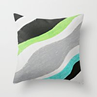 Magic River Throw Pillow