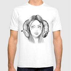 Demon Girl SMALL Mens Fitted Tee White