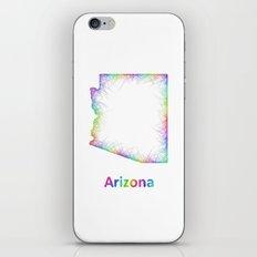 Rainbow Arizona map iPhone & iPod Skin