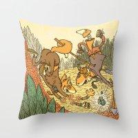Brain Fox Throw Pillow