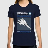Normandy SR-2 Systems Al… Womens Fitted Tee Navy SMALL