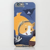iPhone & iPod Case featuring Diving For Treasure! by Claire Stamper