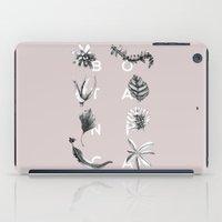 Botanica Letters | Powder iPad Case