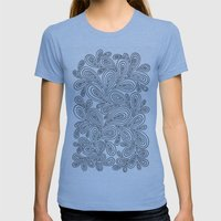 B And W Womens Fitted Tee Athletic Blue SMALL