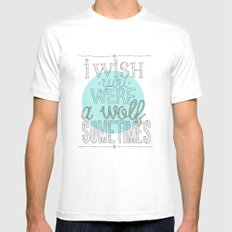 Be a wolf. White Mens Fitted Tee SMALL