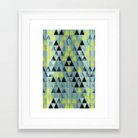 Triangle Rivers Framed Art Print