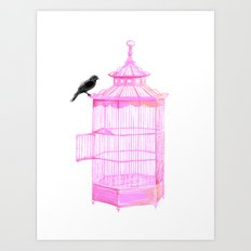 Brooke Figer - PRETTY smart BIRD Art Print