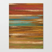 wood panel multicolor Canvas Print