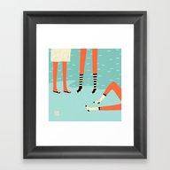 Framed Art Print featuring