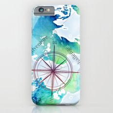 Watercolor map Slim Case iPhone 6s