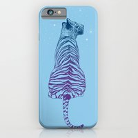 iPhone & iPod Case featuring Tiger + Stars by Rachel Caldwell