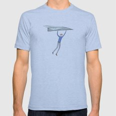 Hang On To Your Paper Ai… Mens Fitted Tee Athletic Blue SMALL