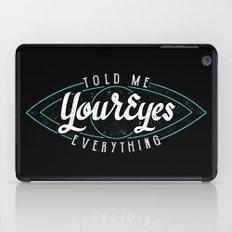 Behind Blue Eyes iPad Case