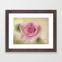 Go Lovely Rose Framed Art Print
