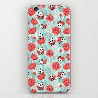 Poppy Pandas iPhone & iPod Skin