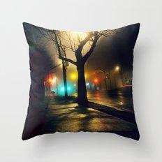 Nebula Tree Throw Pillow