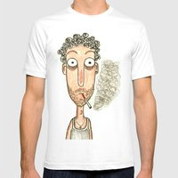 SMOKING Mens Fitted Tee White SMALL