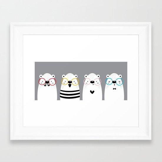 Osos Framed Art Print