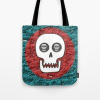 Skull Poppy Tote Bag