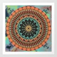Sunset Desert Mandala Art Print