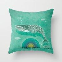 Whale Future Throw Pillow