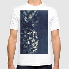 PINEAPPLE - CROSS/PROCESS SMALL Mens Fitted Tee White